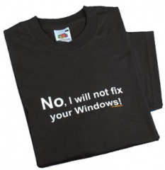 I will not fix your windows