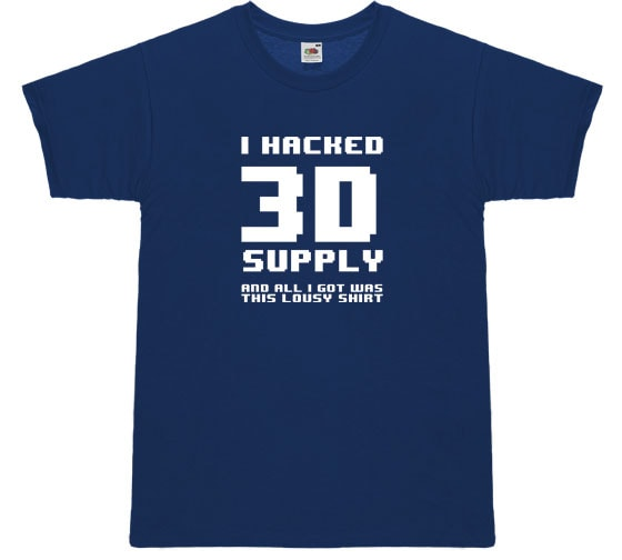 i hacked 3Dsupply and all I got was this lousy shirt