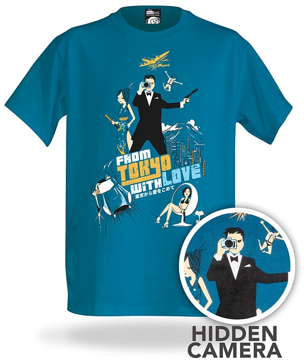 Spionage-Kamera-Shirt