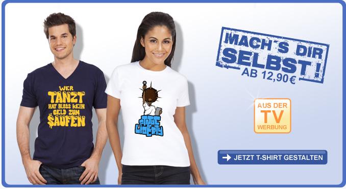"""""""Mach's Dir selbst!"""" - T-Shirts selbst gestalten bei fun-shirt24.com"""