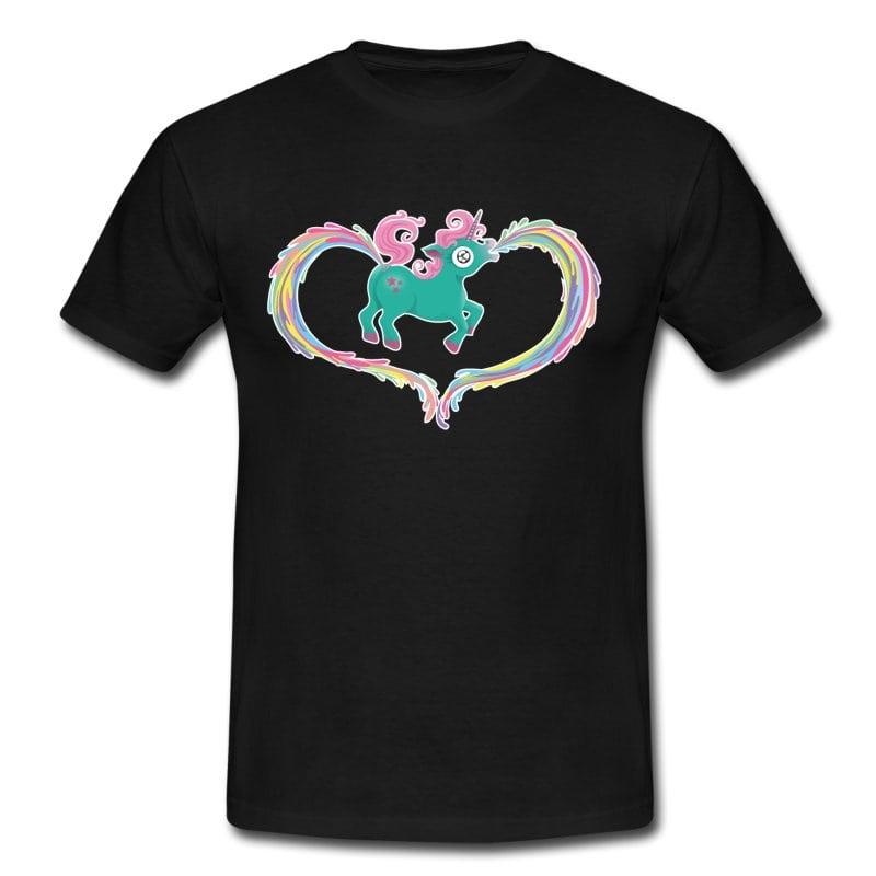 Einhorn Kotze Kacke Regenbogen T-Shirt