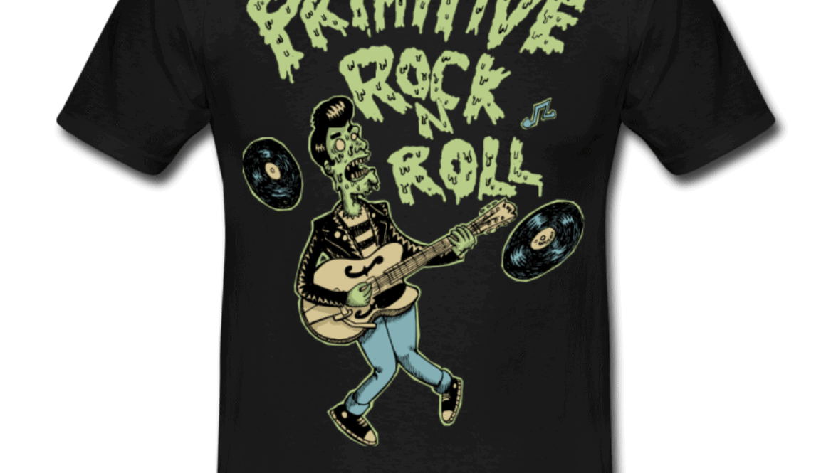 Schwarz-primitive-rock-T-Shirts